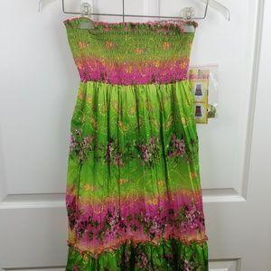 Squeeze Girl 14/16 Shirred Boho Dress or Skirt NWT
